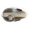 Glass Lamp Bead 15x9mm Pear Shape Black Diamond